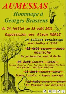 Exposition par Alain Merle en Hommage à Georges Brassens